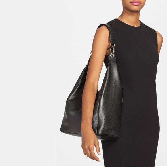 Longchamp Black Le Foulonne Hobo Bag